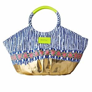 Lilly Pulitzer Bohemian Beach Tote in 'Blue Crush'